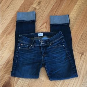 HUDSON Rolled Up Cuffs Jeans